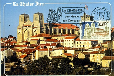 Carte-maximum Abbaye La Chaise Dieu (43)